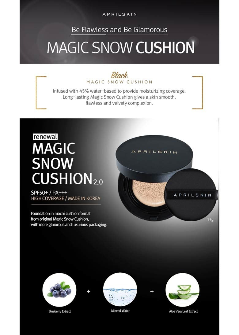 APRIL SKIN Black Magic Snow Cushion Cosme Hut AUstralia
