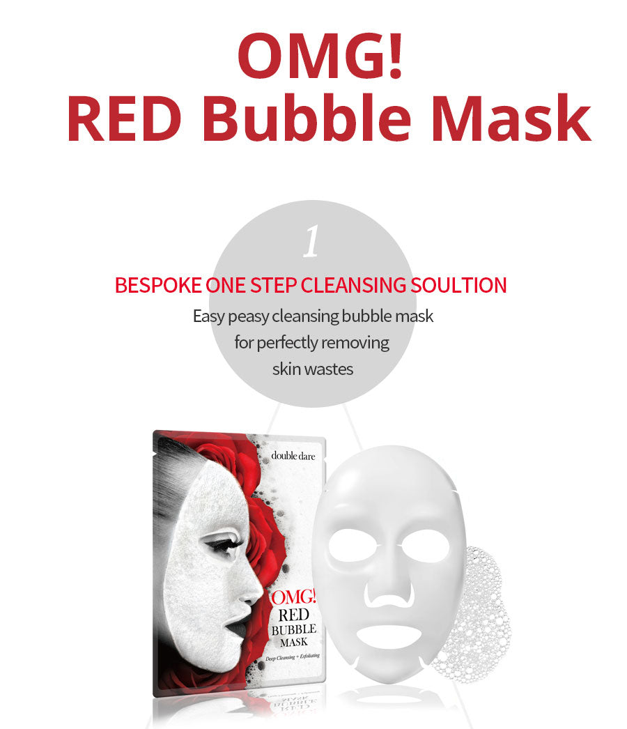 DOUBLE DARE OMG! Red Bubble Mask Australia Cosme Hut