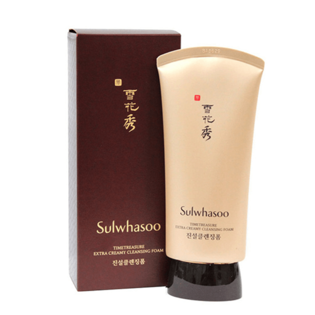 SULWHASOO Timetreasure Extra Creamy Cleansing Foam EX 30ml Cosme Hut kbeauty Korean Skincare