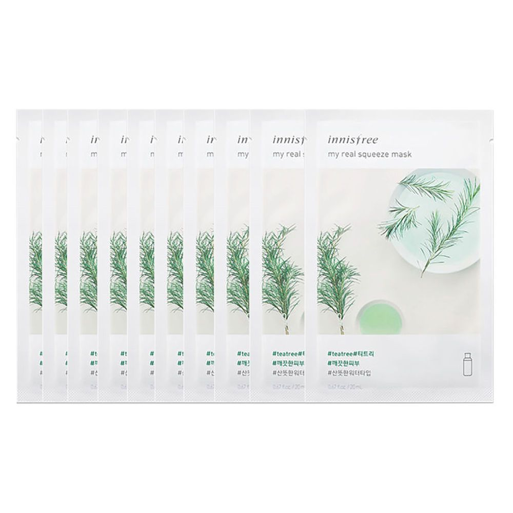 INNISFREE My Real Squeeze Mask Set (10 Sheets/Set)