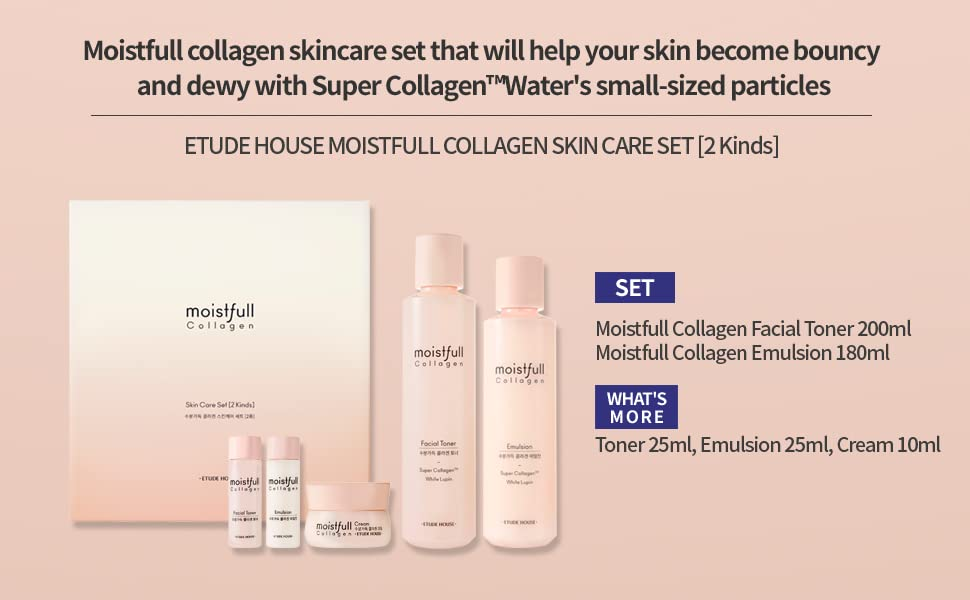 ETUDE HOUSE Moistfull Collagen Skin Care Set (2 Kinds) Cosme Hut kbeauty Korean Skincare Australia
