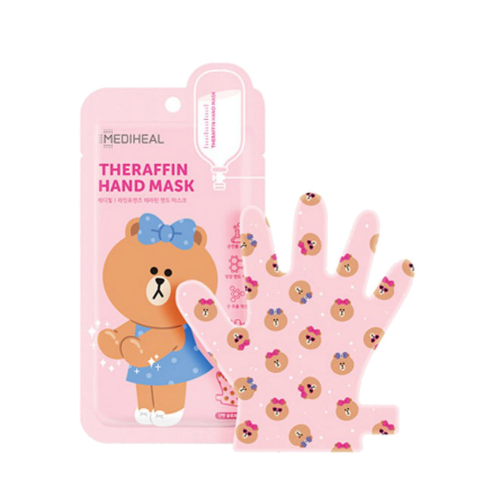 MEDIHEAL Theraffin Hand Mask [Line Friends Edition] Cosme Hut korean beauty Australia