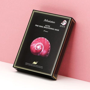 JM SOLUTION Active Pink Snail Brightening Mask (Box/10 sheets)