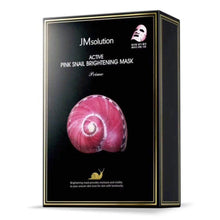 Load image into Gallery viewer, JM SOLUTION Active Pink Snail Brightening Mask (Box/10 sheets)