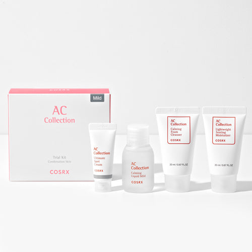 COSRX AC Collection Trial Kit For Combination Skin - Mild (4 step)
