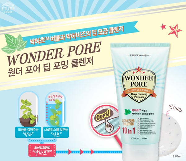 ETUDE HOUSE Wonder Pore Deep Foaming Cleanser Cosme Hut Australia