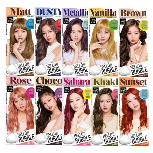 MISE EN SCENE Hello Bubble Foam Hair Color (Blackpink Edition) Cosme Hut korean beauty Australia
