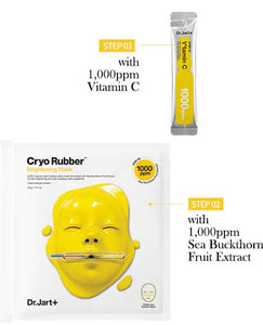 DR JART+ Cryo Rubber With Brightening Vitamin C Mask Cosme Hut kbeauty Korean Skincare Australia