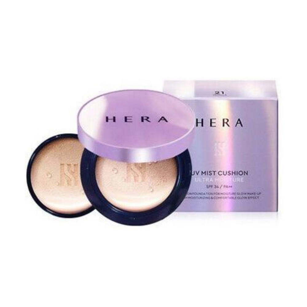 Hera UV Mist Cushion Cover #C21 Vanilla Cover 15g x 2