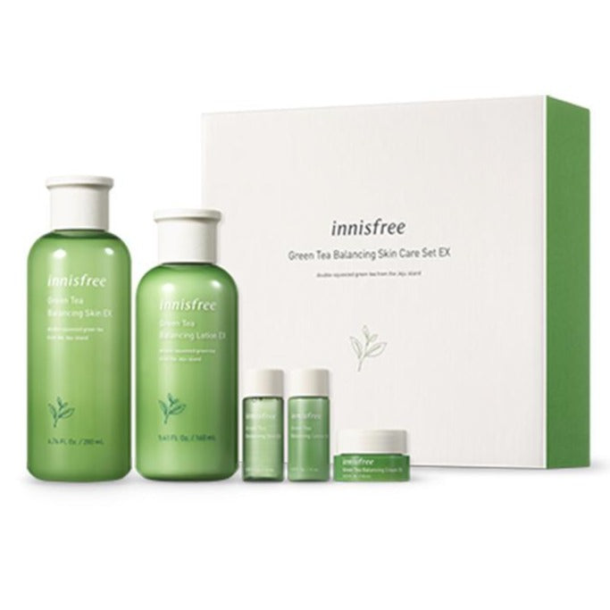 INNISFREE Green Tea Balancing Skin Care Set Ex Cosme Hut kbeauty Korean Skincare Australia