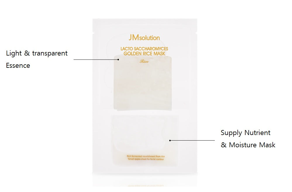 JM SOLUTION Lacto Saccharomyces Golden Rice Mask (piece/box) Cosme Hut korean beauty Australia
