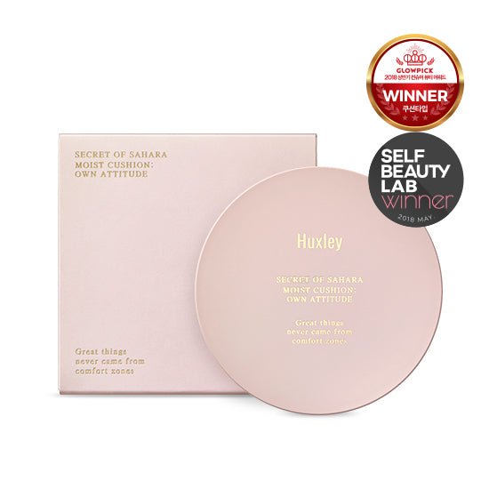 HUXLEY Secret of Sahara Moist Cushion Own Attitude Cosme Hut korean beauty Australia