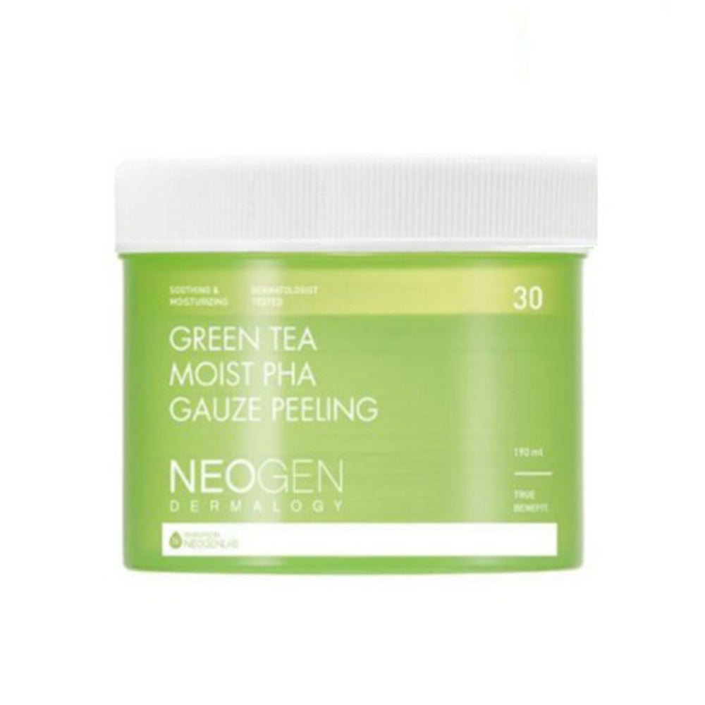 NEOGEN Dermalogy Green Tea Moist PHA Gauze Peeling 30 Sheets