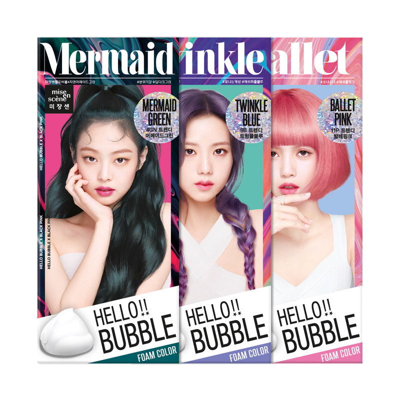 MISE EN SCENE Hello Bubble Foam Hair Color NEON (Blackpink Edition) Cosme Hut korean beauty Australia