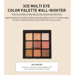 3CE Multi Eye Color Palette #All Nighter Cosme Hut korean beauty Australia