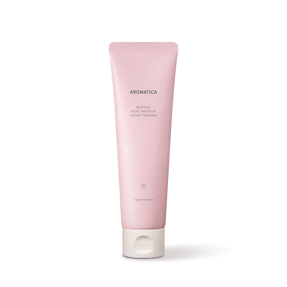 AROMATICA Reviving Rose Infusion Cream Cleanser Cosme Hut kbeauty Korean Skincare Australia