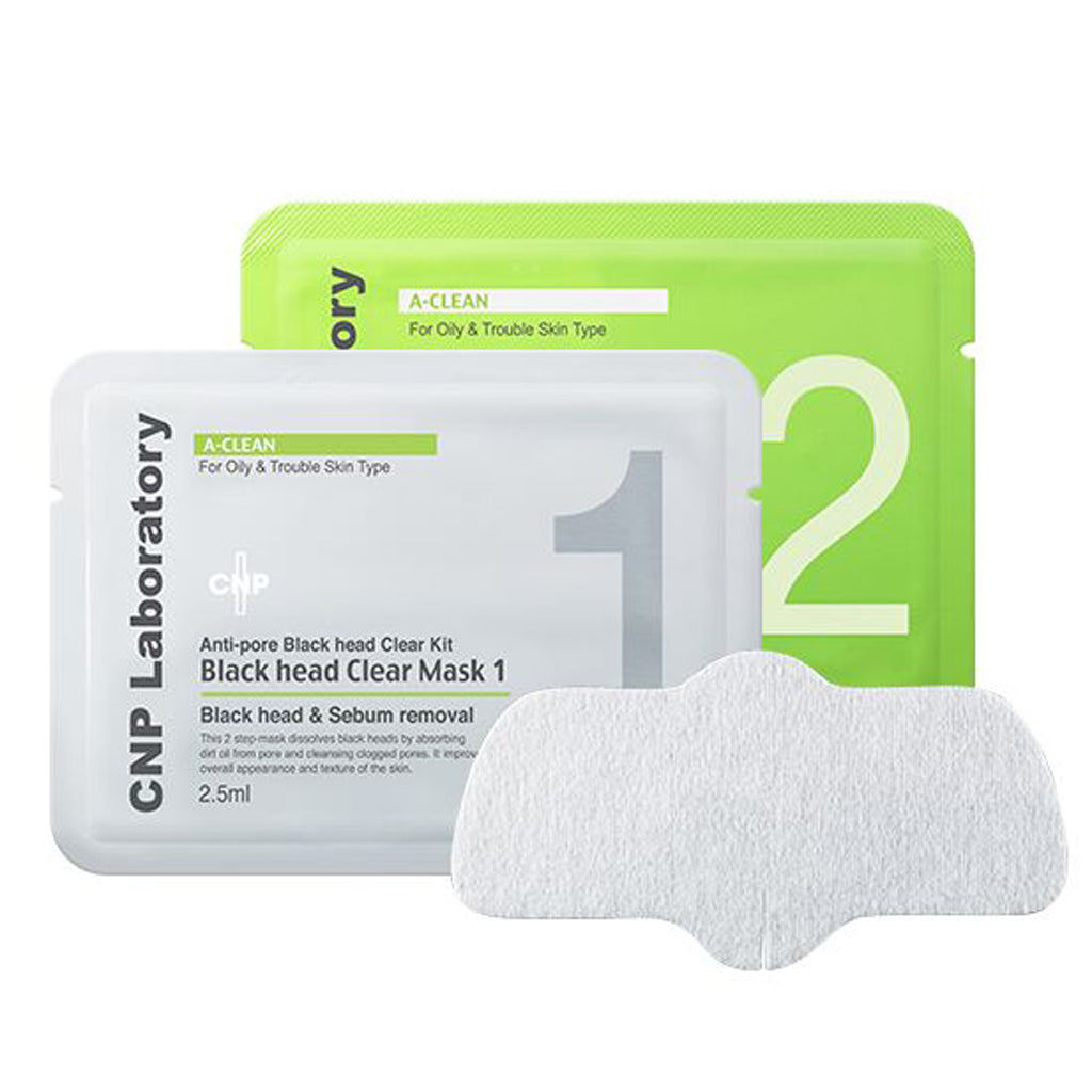 CNP Laboratory Anti-Pore Black Head Clear Kit (Black Head Clear & Pore Tightening Mask) Cosme Hut korean beauty Australia