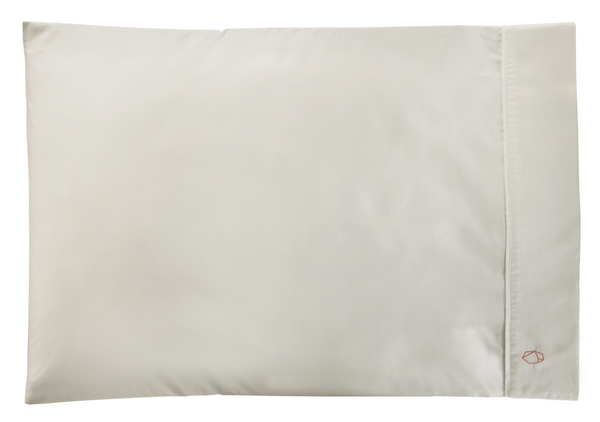 Two Modern Zinc Pillowcases - White