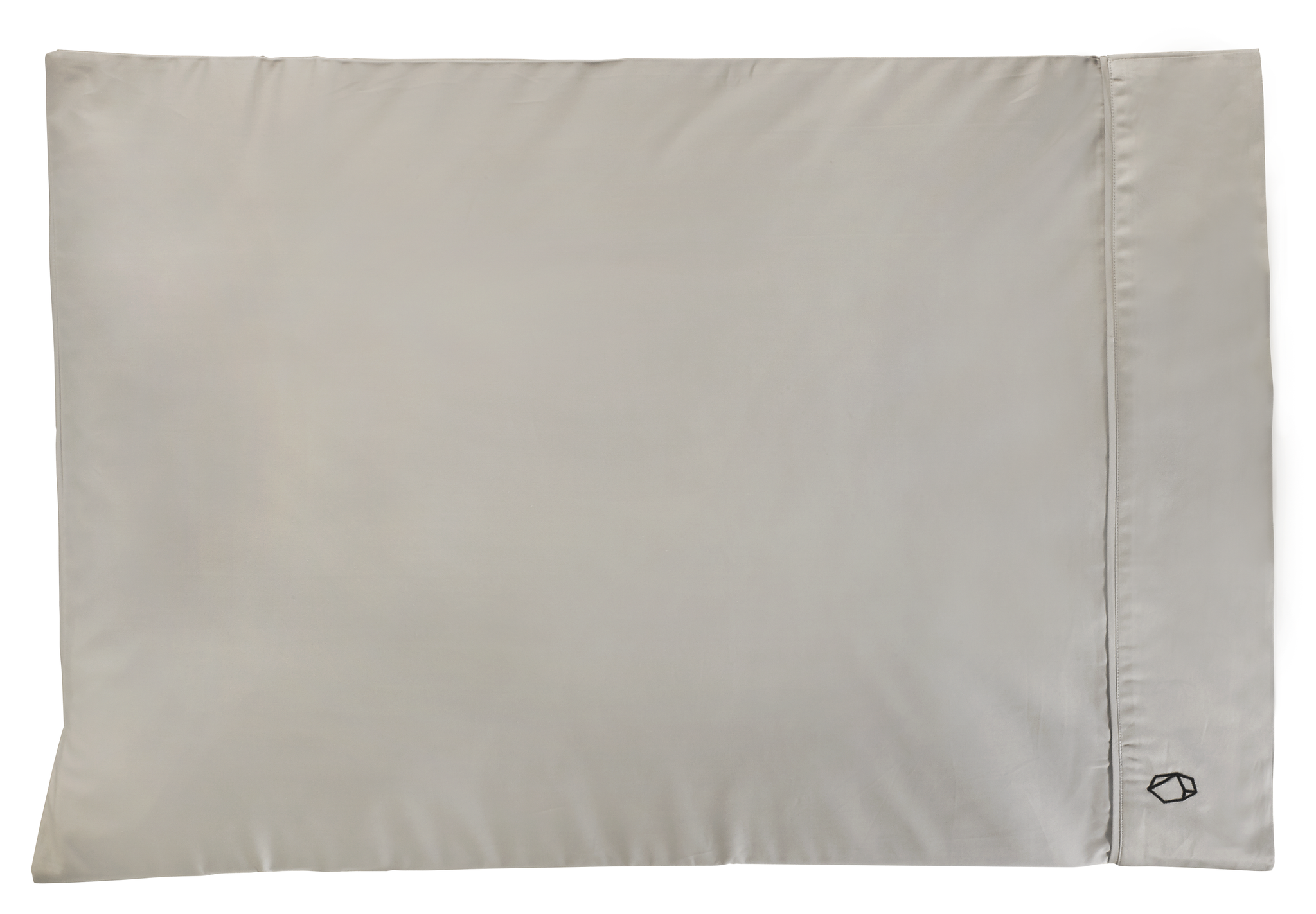 Two Modern Zinc Pillowcases - Gray