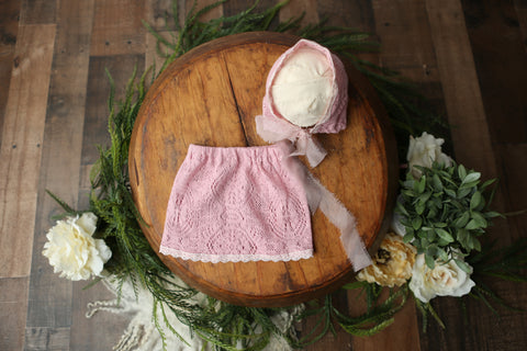 Bonnet & Skirt - Newborn