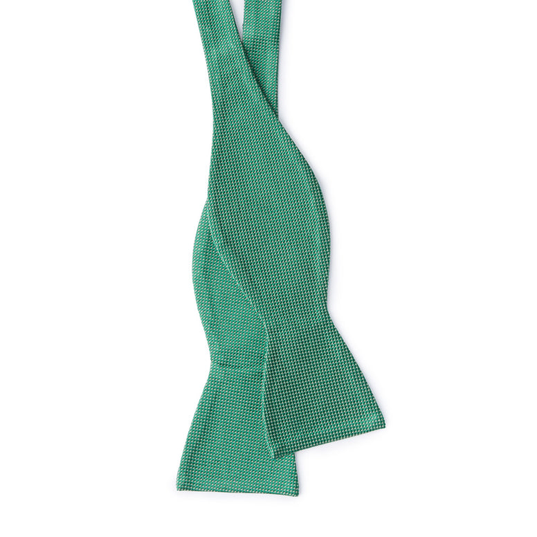 Textured Green Bow Tie