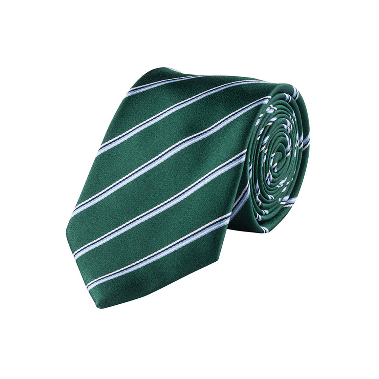 Striped Green Silk Tie
