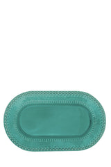 Fantasia Dining Platter in Aqua Green
