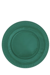 Fantasia Charger Plate in Aqua Green