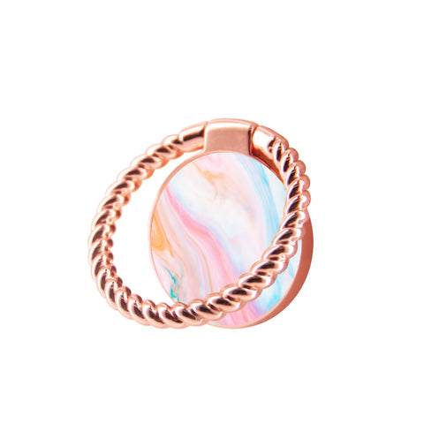 Finger Ring Stand Pastel Marble