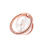Finger Ring Stand Rose Gold Marble