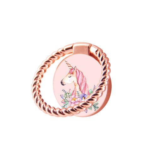 Finger Ring Stand Unicorn Floral