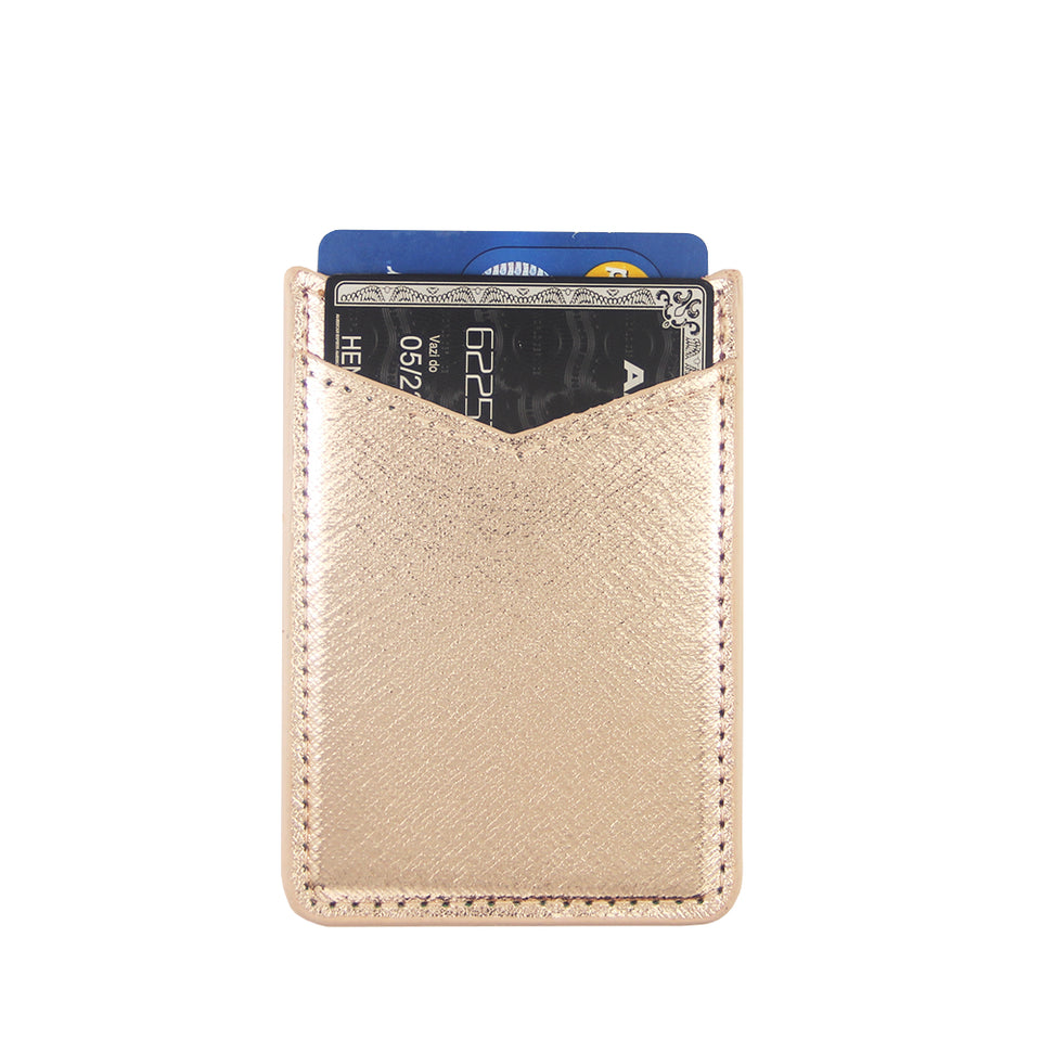 Phone Card Holder >> Gold Pu Leather Phone Card Holder Ucolor