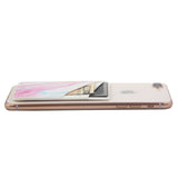 Pastel Marble PU Leather Phone Card Holder