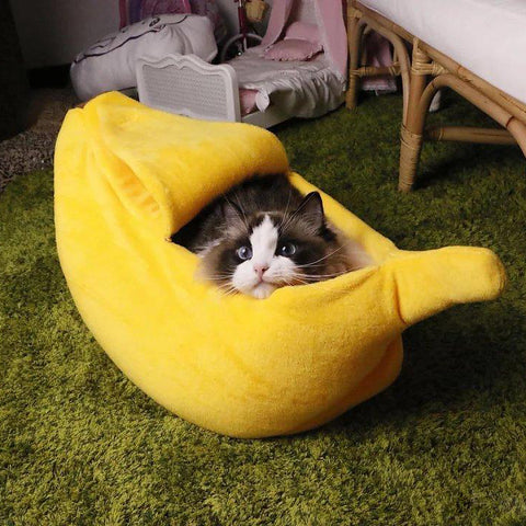 Cute Banana Cat Bed