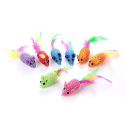 Colorful Mice Cat Toys 8 Pack