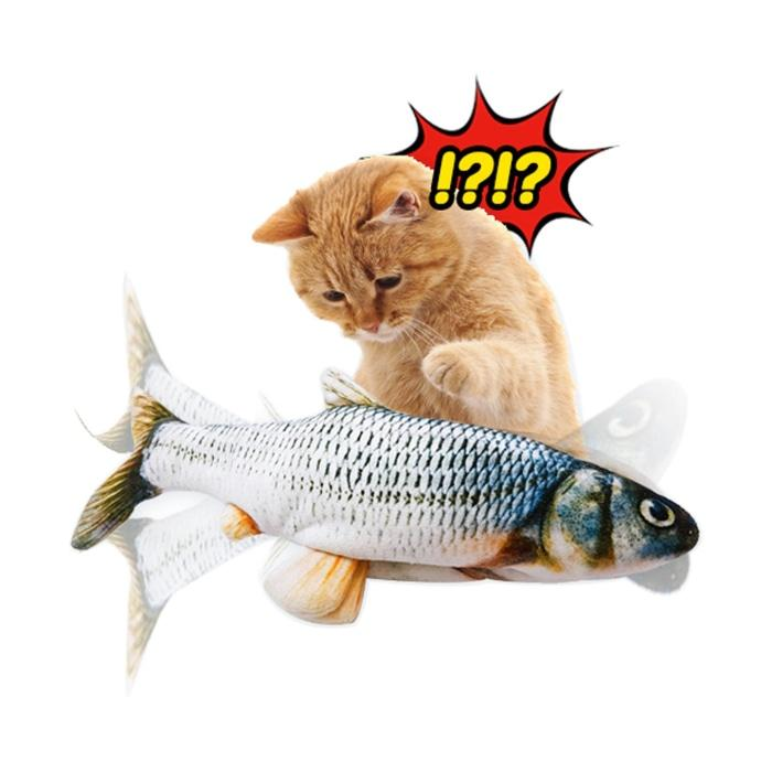 Dancing Fish™ Cat Kicker Toy - Realistic Moves!