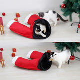 Santa Claus Pants Cat Tunnel