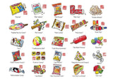 Childhood Series - Snacks Postcards - SG Style