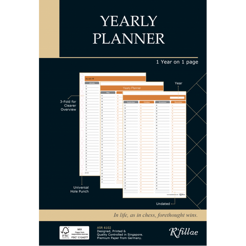 Futuring | A5 Refill for Yearly Planner (Undated)