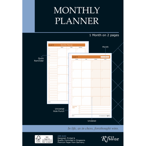 Futuring | A5 Refill for Monthly Planner (Undated)