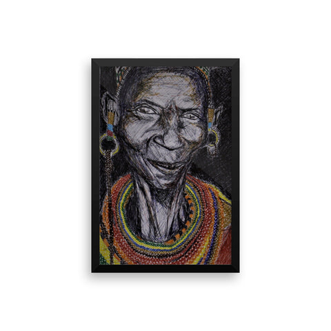 baserbillion art london elderly African black woman tribal jewellery earrings loop baserbillion art