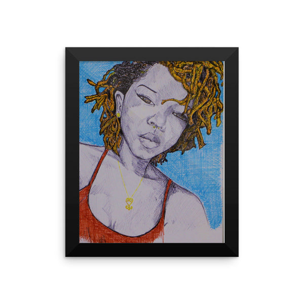 baserbillion art london ginger dreads black girl pretty gorgeous