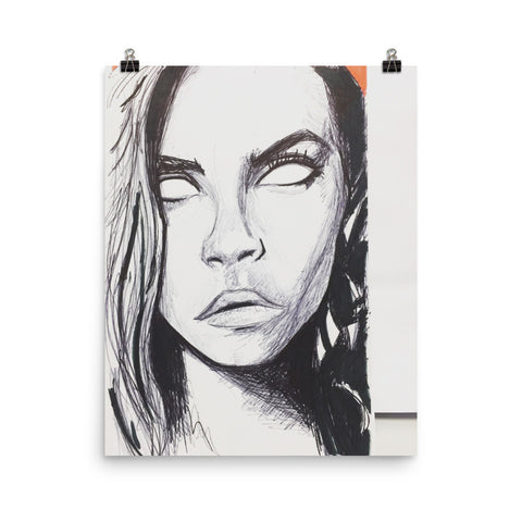 baserbillion art Cara poster delevingne drawing