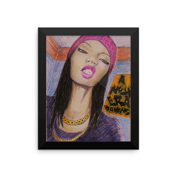 baserbillion art pink hat black girl cool look grimace sexy new era dawns baserbillion art