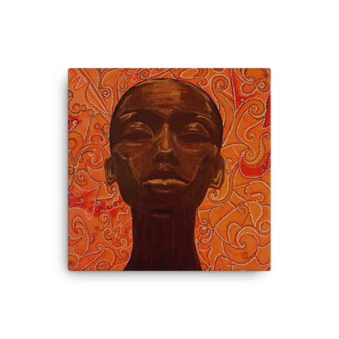 baserbillion art london orange dot black woman relax deep calm