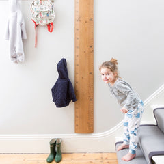 family rule wooden height ruler