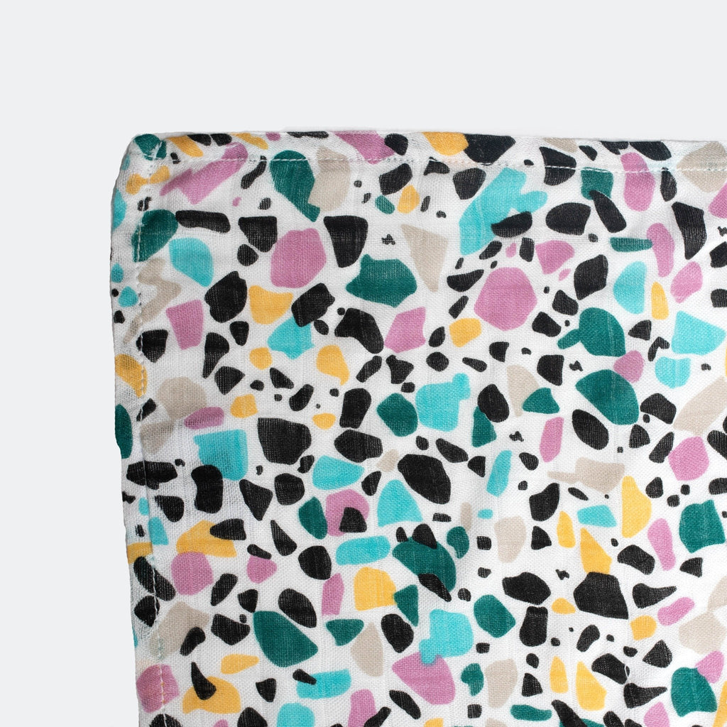 Extra Large Terrazzo Print Sensory Muslin Square | 5+ Months | Etta Loves