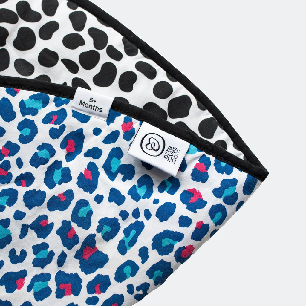 ANIMAL PRINT PLAYMAT- reversible newborn to 4 months and 5+ months