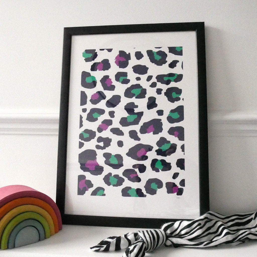 ART PRINT - purple leopard