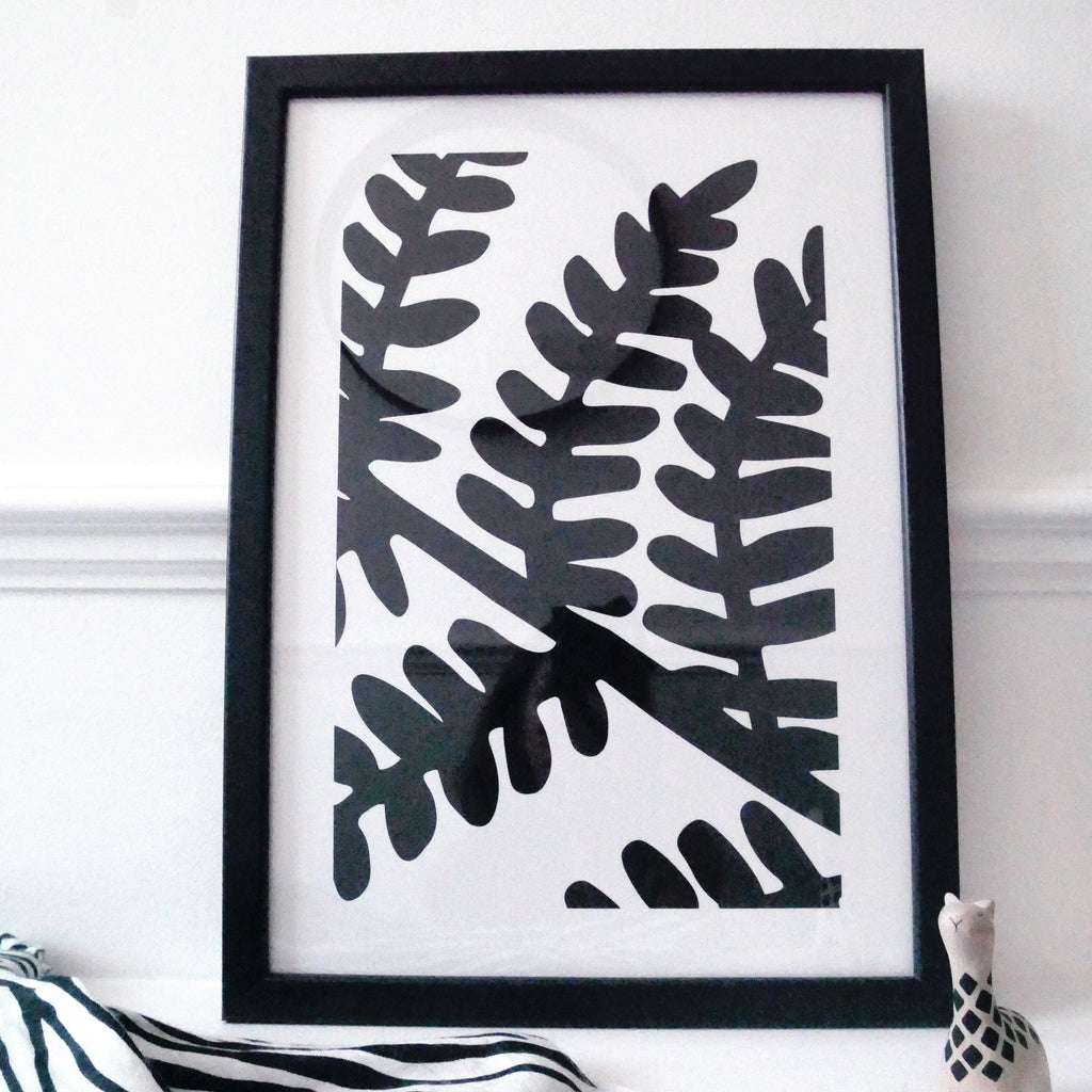 Nursery wall art - baby sensory Fern print | Etta Loves